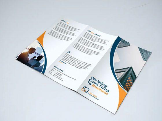 طراحی بروشور شرکتی TriFold Business