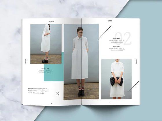 طراحی کاتالوگ مد و فشن Lookbook