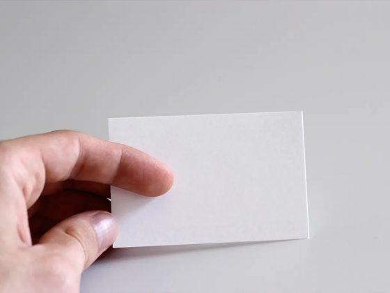 موکاپ کارت ویزیت لایه باز Office