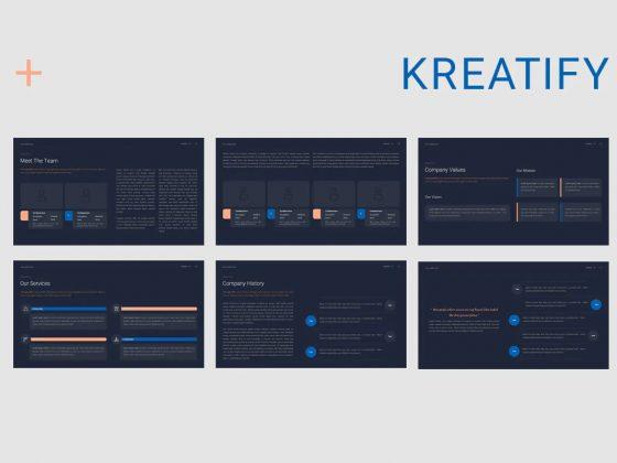 پاورپوینت ارائه و معرفی دکوراتیو Kreatify