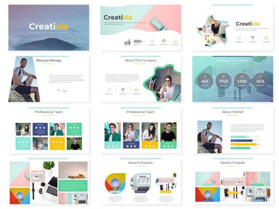 قالب ارائه پاورپوینت گوگل اسلاید خلاقانه