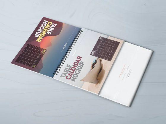 موکاپ تقویم رومیزی Table Calendar