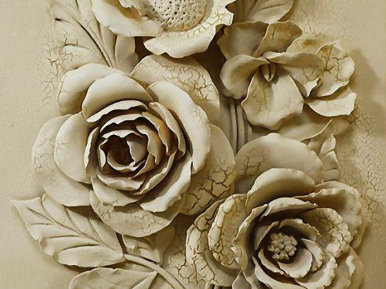 پوستر دیواری گل گلی سه بعدی