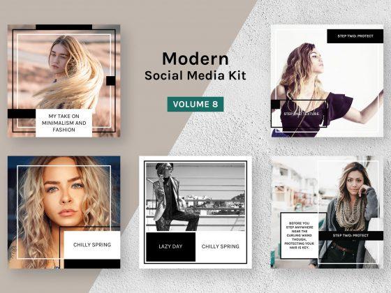 قالب اینستاگرام بلاگری Modern Kit
