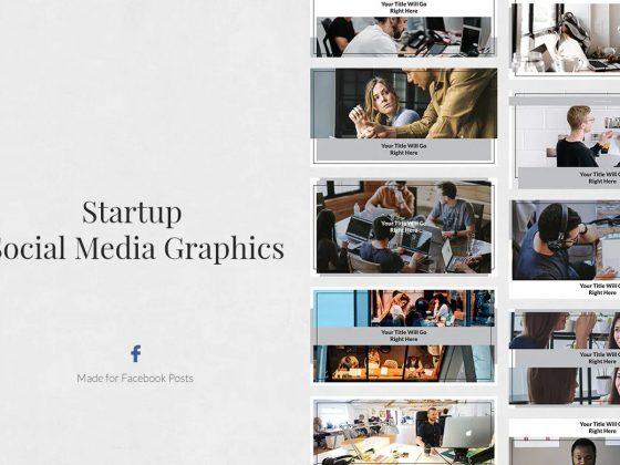 قالب اینستاگرام پست و استوری Startup