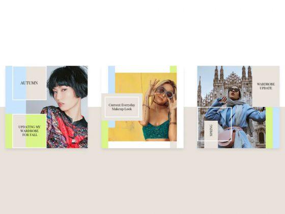15 قالب پست اینستاگرام Modern Kit
