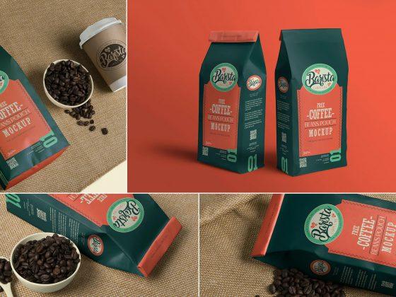 موکاپ بسته بندی قهوه Caffee Mockups