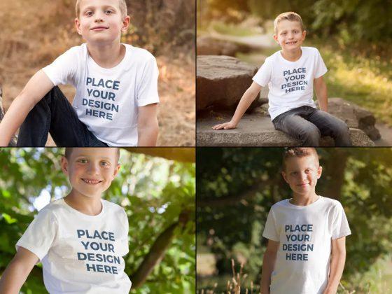 موکاپ تیشرت پسرانه Boys Tshirt