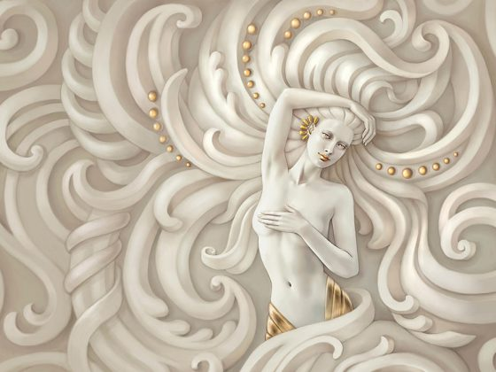 پوستر دیواری الهه یونانی سه بعدی