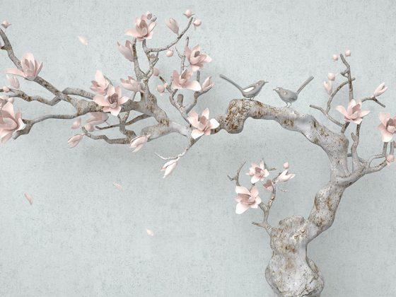 پوستر سه بعدی گل ژاپنی بونسای
