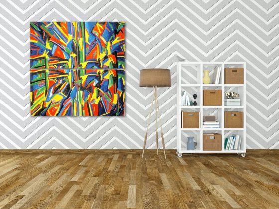 موکاپ تابلو شاسی و پوستر دیواری
