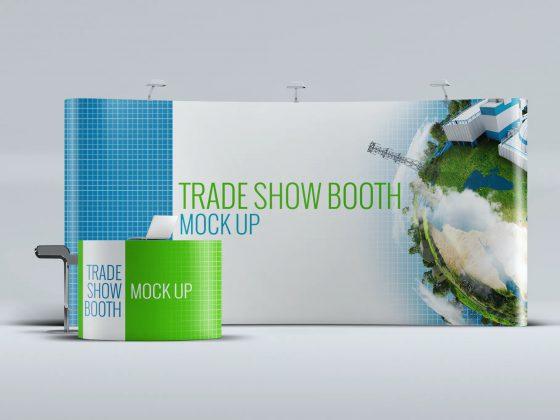 موکاپ استند نمایشگاهی Trade show
