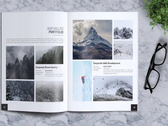 طراحی کاتالوگ لایه باز خلاقانه