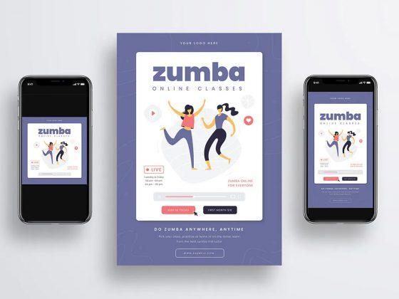 پوستر تبلیغاتی ورزشی زومبا