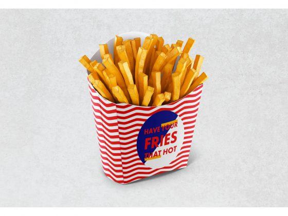 موکاپ بسته بندی چیپس Fries