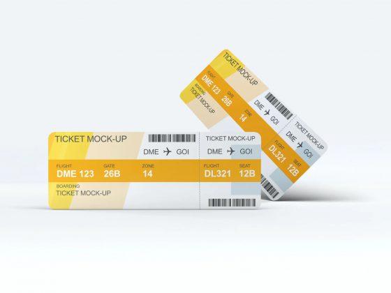 نمونه موکاپ بلیط Ticket