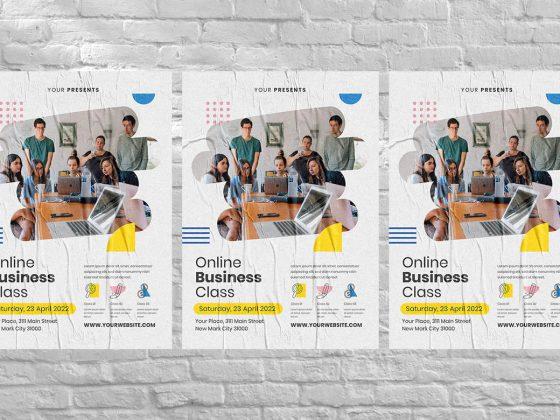 پوستر تبلیغاتی آموزش آنلاین